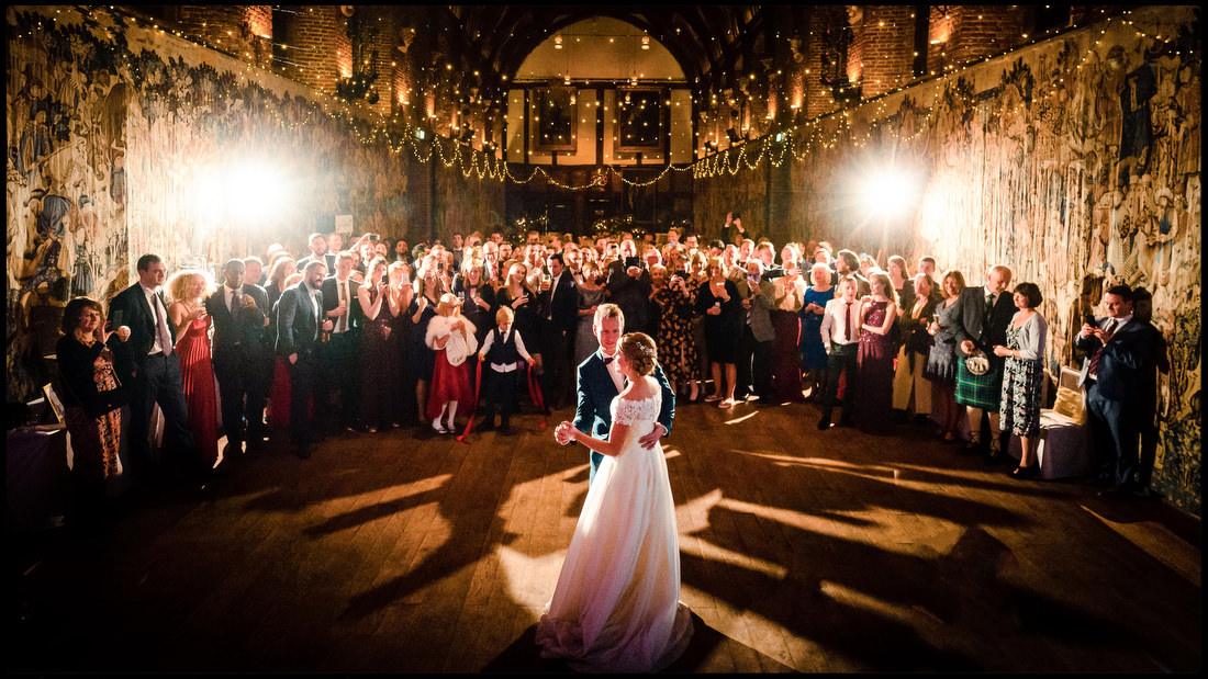 First dance at Hatfield House a great Hertfordshire wedding venue