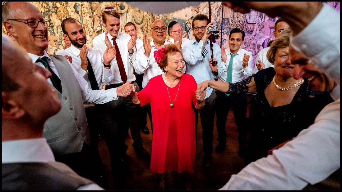 Grandma on the dance floor at Hertfordshire's Hatfield House