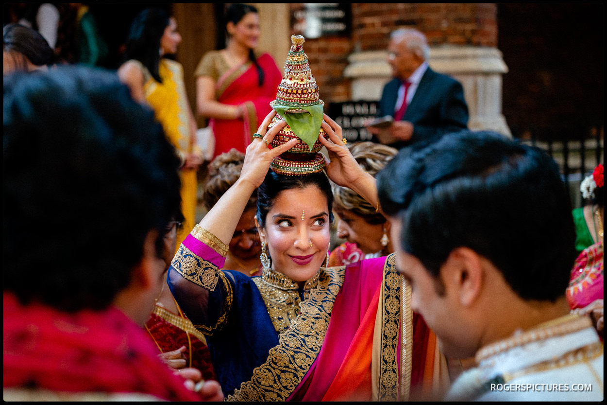 Indian wedding groom at Middle Temple