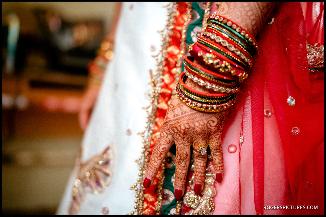 Indian brides bangles