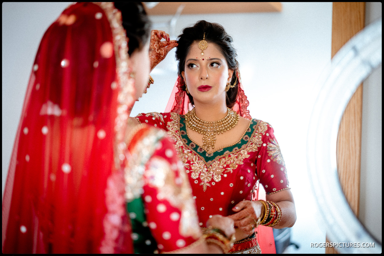 Indian bride on wedding day