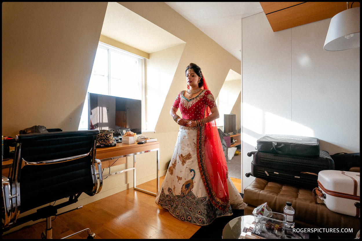 Asian bride before getting married