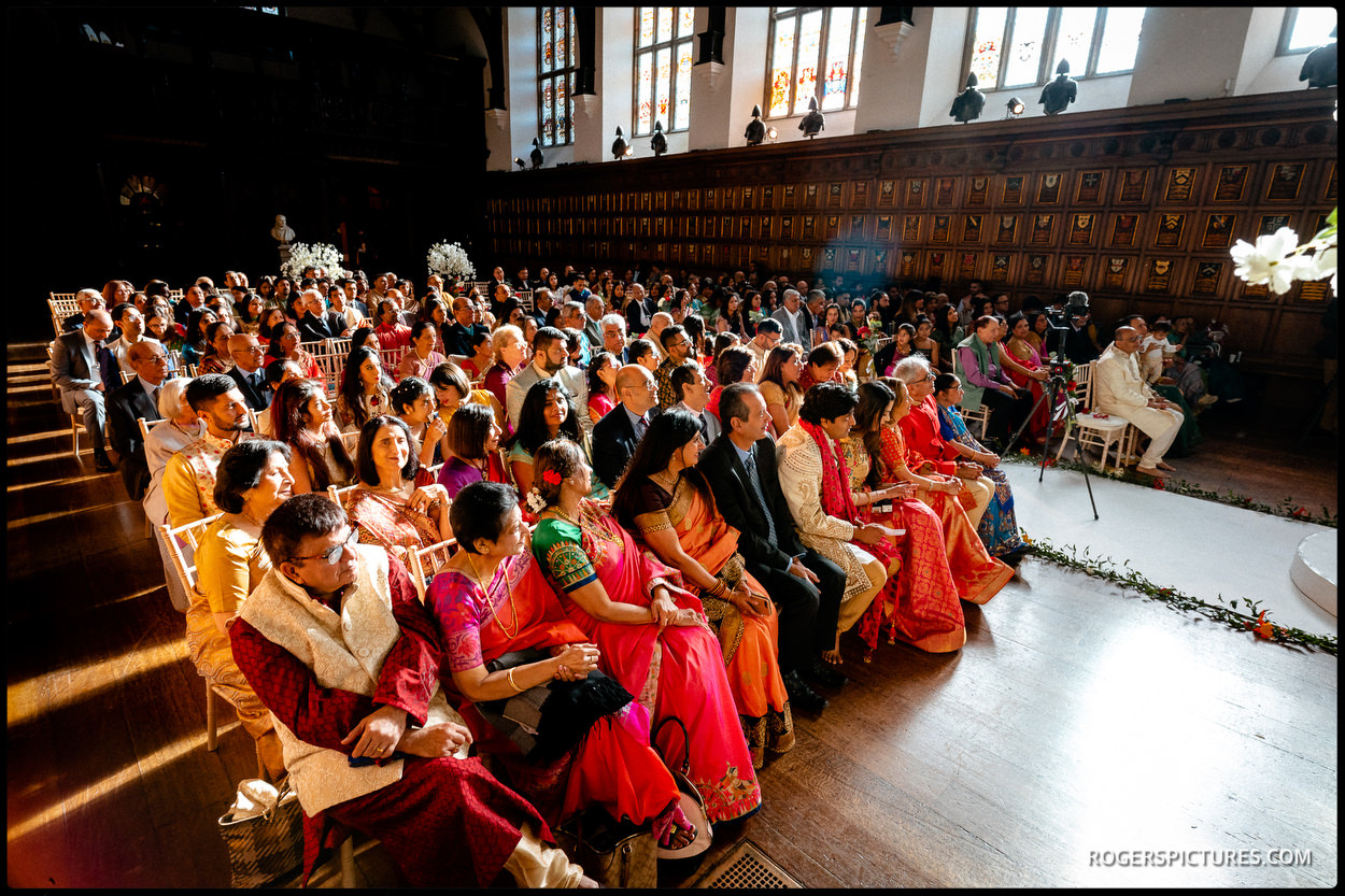 Indian wedding ceremony at Middle Temple Hall