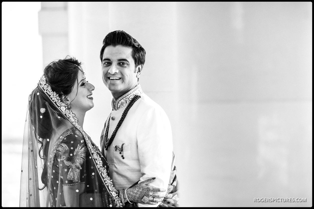 Newly-wed portrait