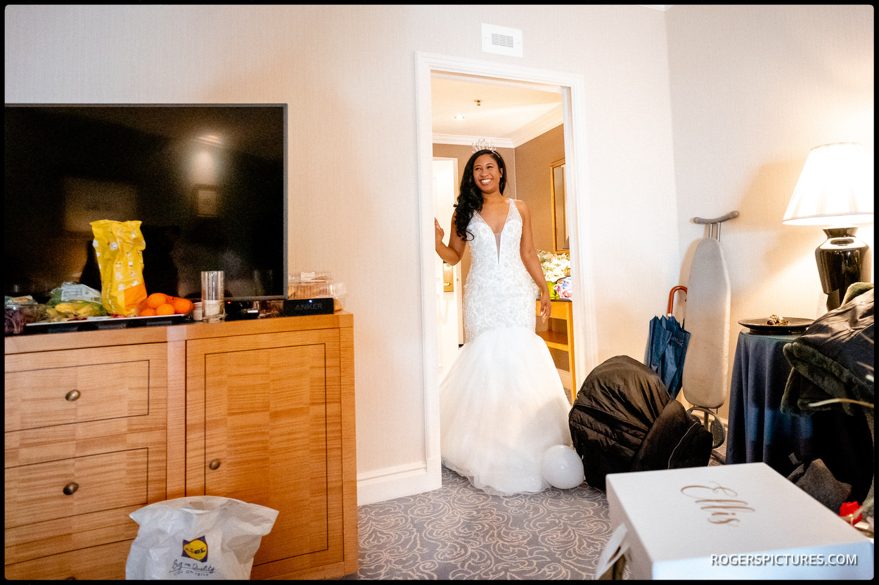 Bride at luxury The Landmark Hotel in London
