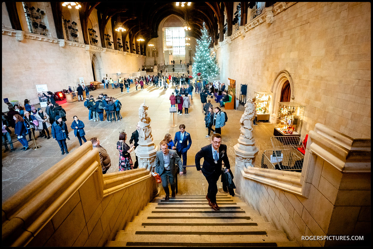 Groom arriving in Westminster Hall at Parliament