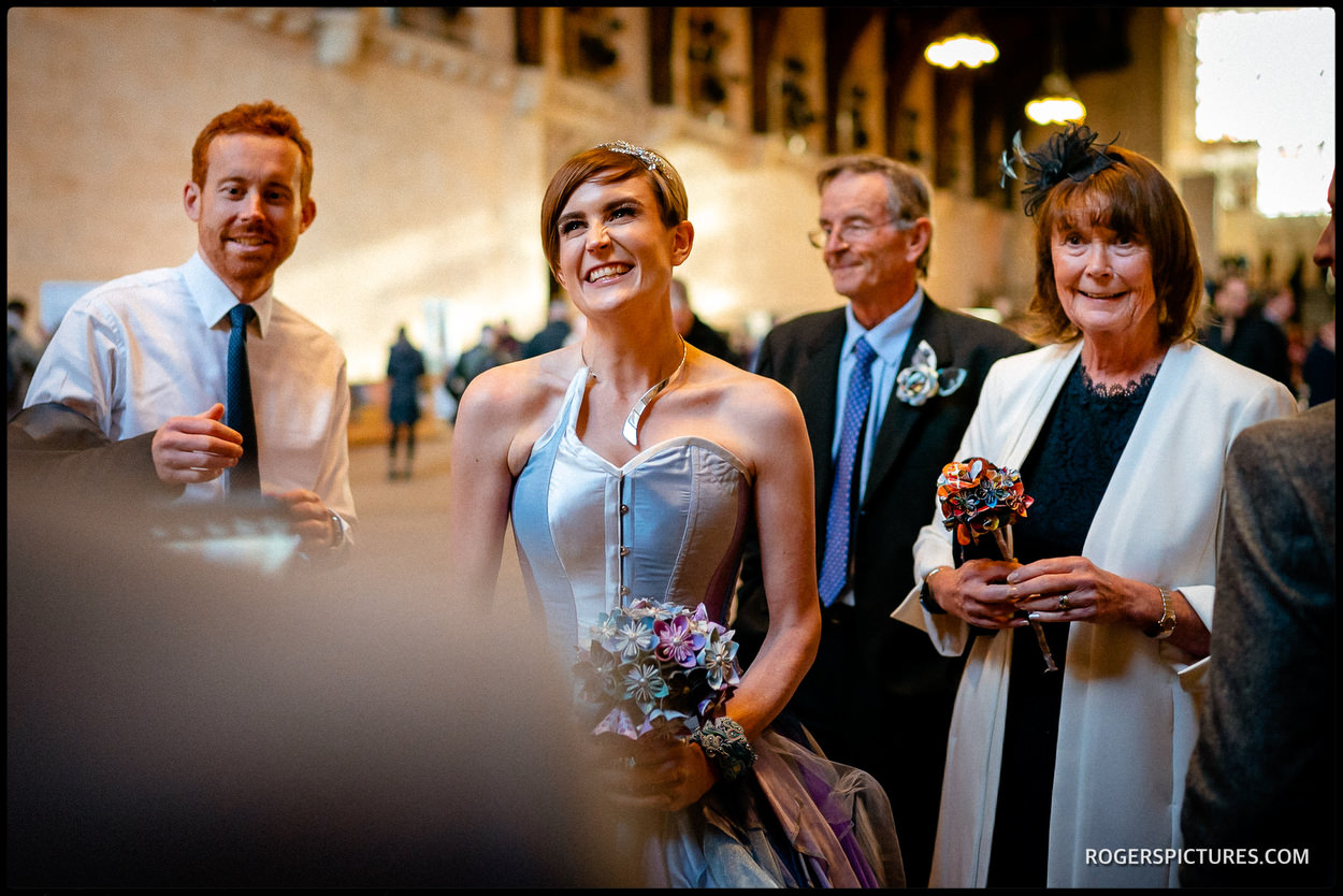 Westminster Hall wedding reception