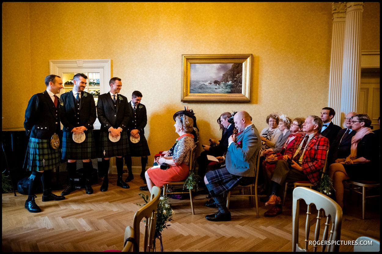 Groomsmen at Glenapp Castle wedding