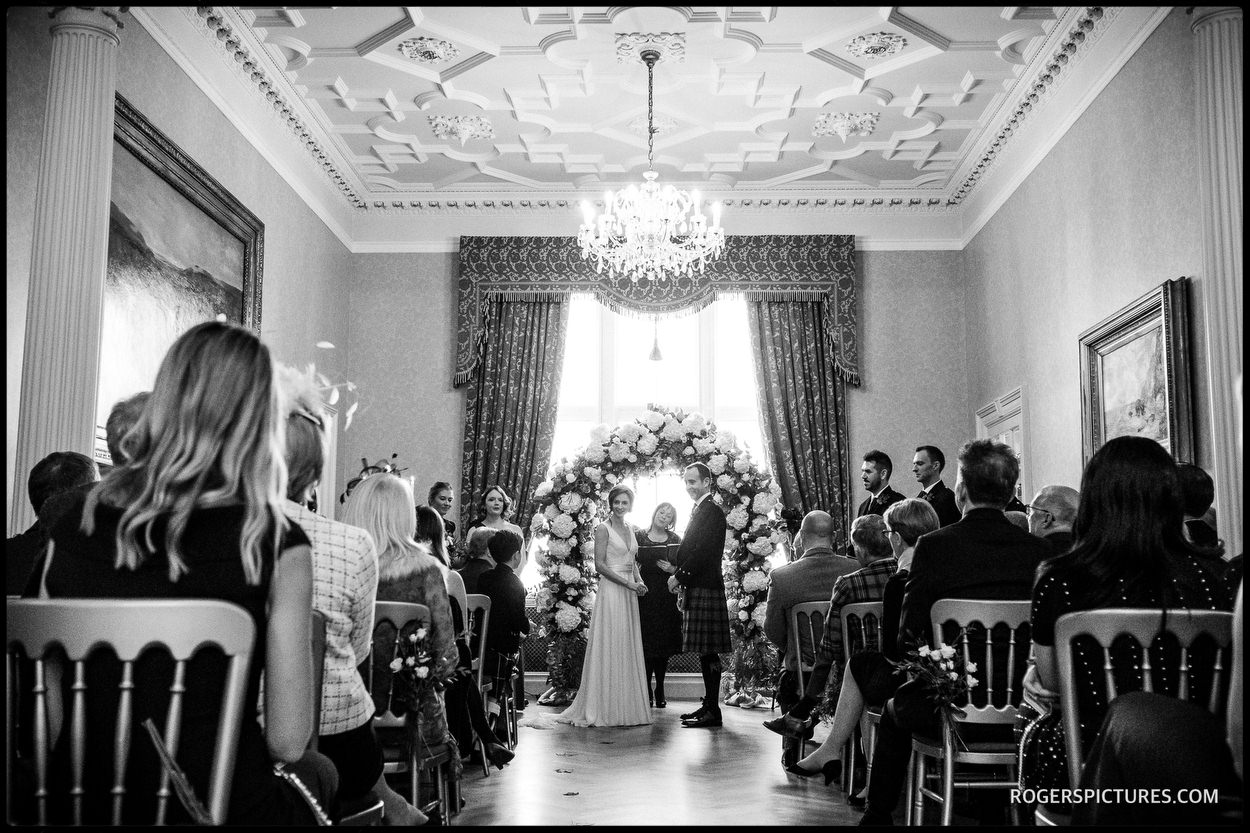 Documentary wedding photography at a Scottish castle