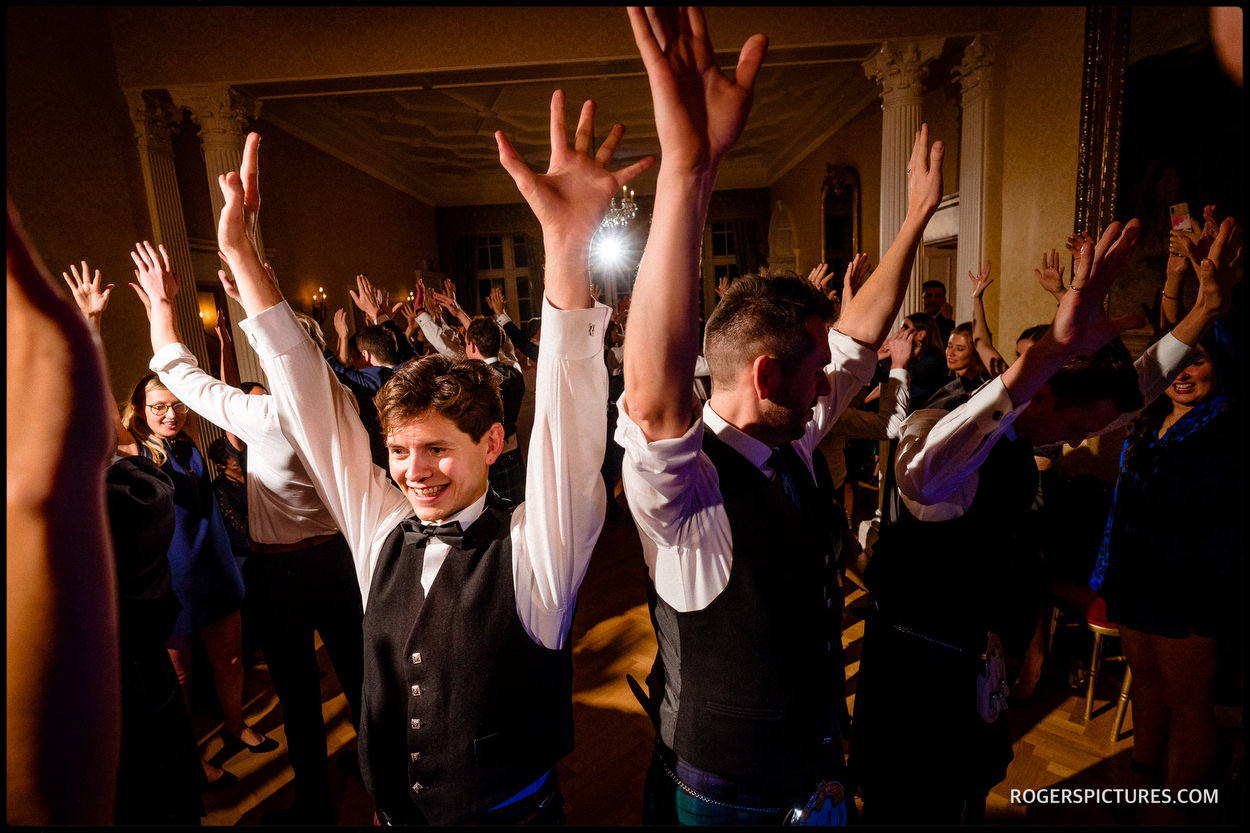Ceilidh at Glenapp Castle wedding