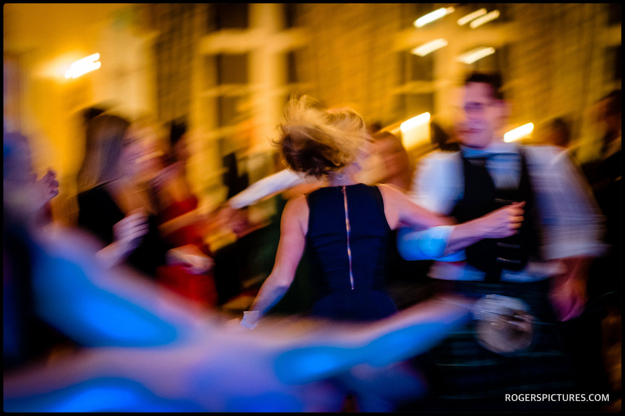 Guests dancing at a Ceilidh at Glenapp Castle