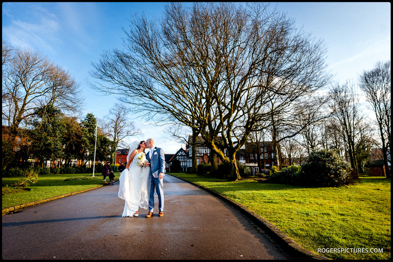 Winter wedding in Wigan