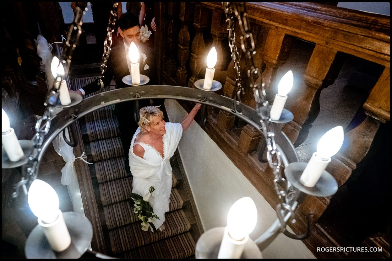 Bride at Maiden's Tower in Leeds Castle