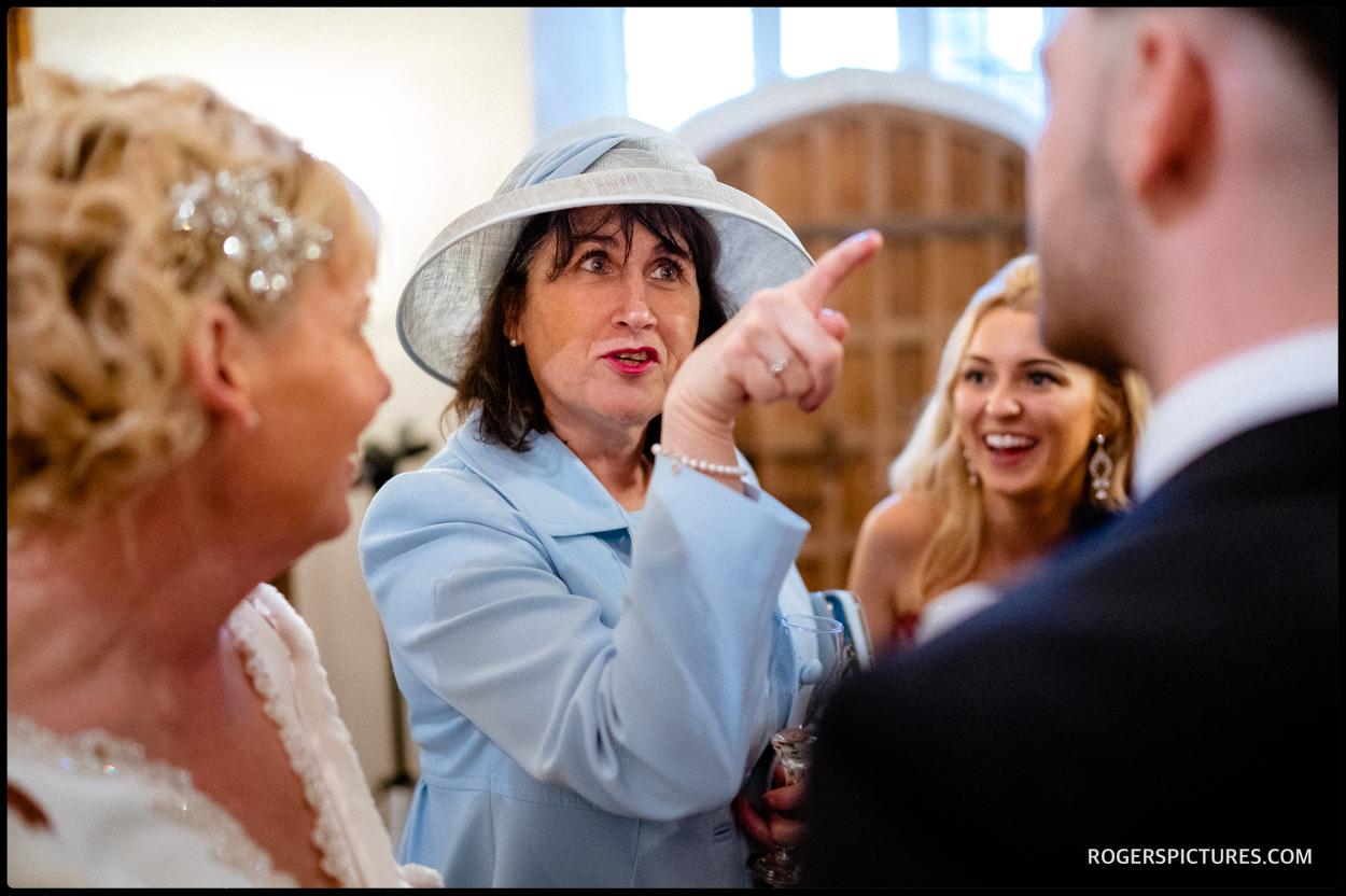 Wedding reception at Maiden's Tower wedding in Kent
