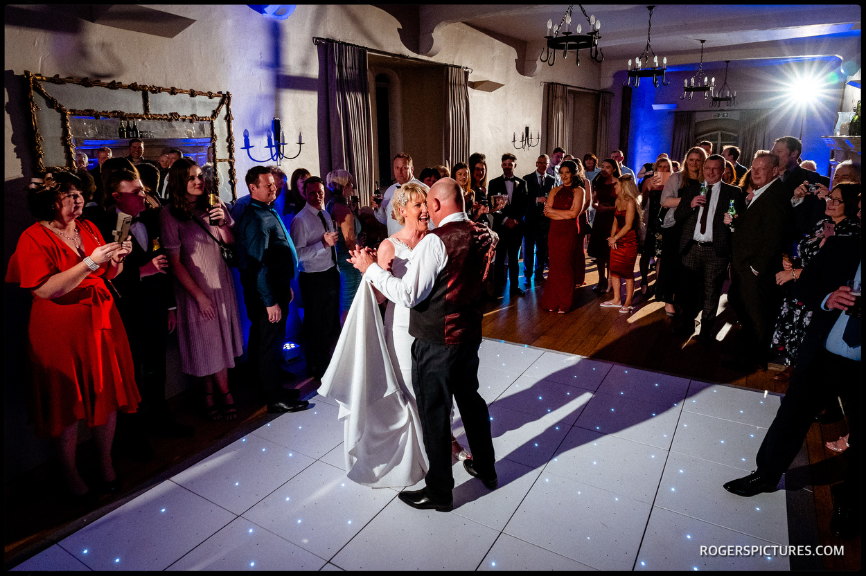 First Dance at Maiden's Tower wedding in Kent