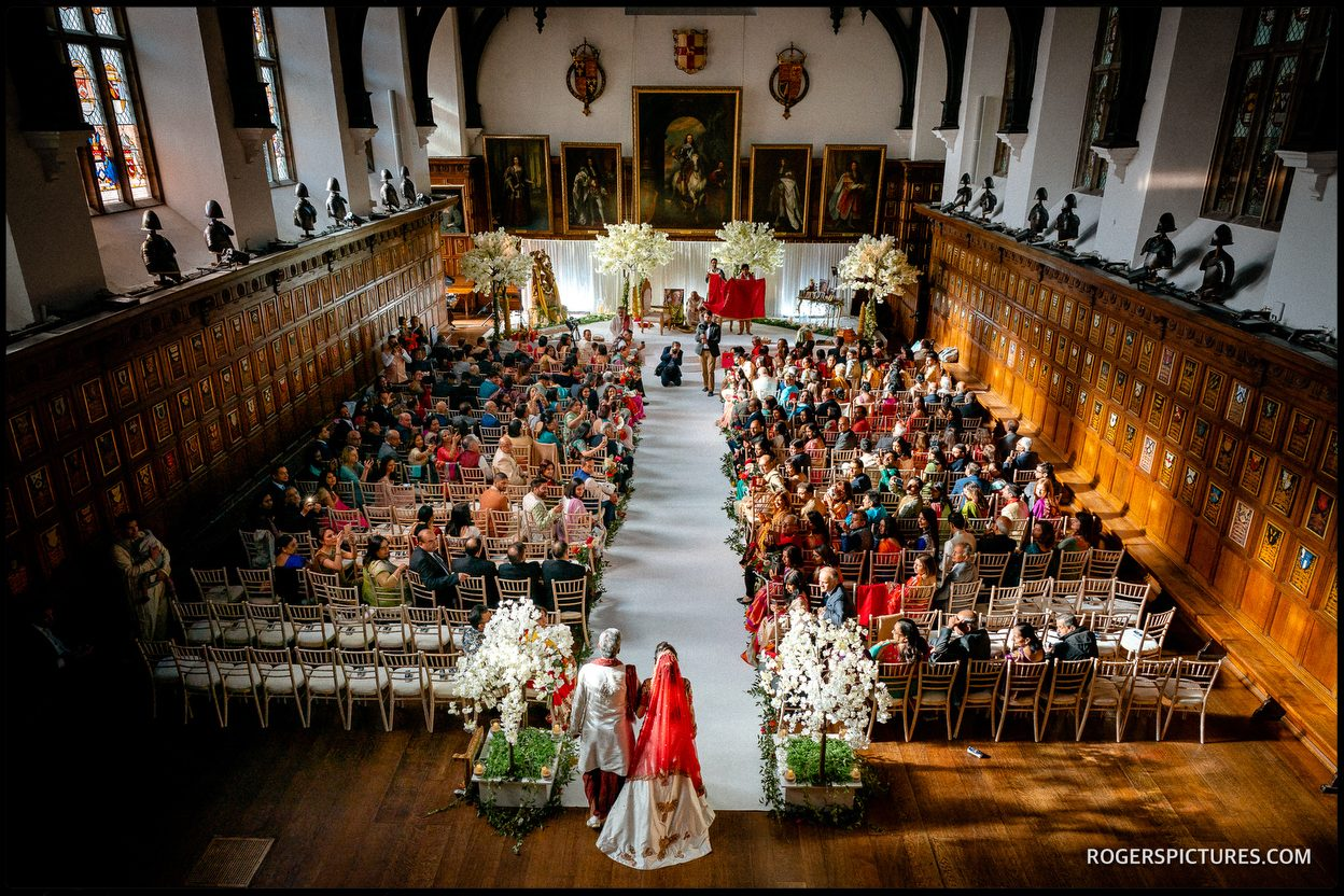Second wedding photographer from the balcony at Middle Temple