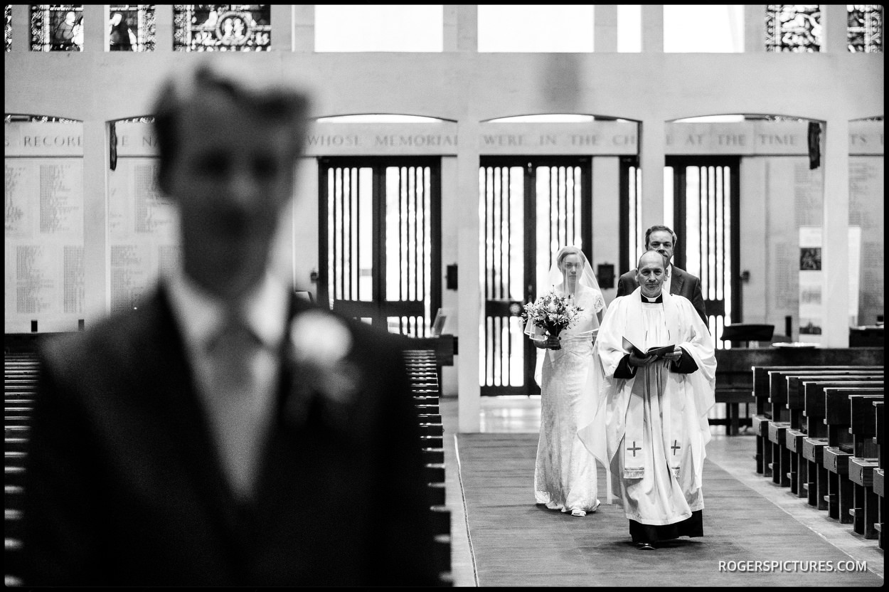 Wedding ceremony begins at Guards Chapel in London