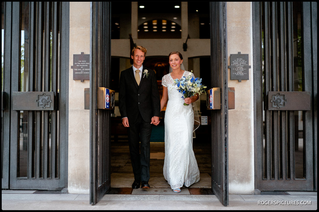 Married at Guards' Chapel in Wellington Barracks