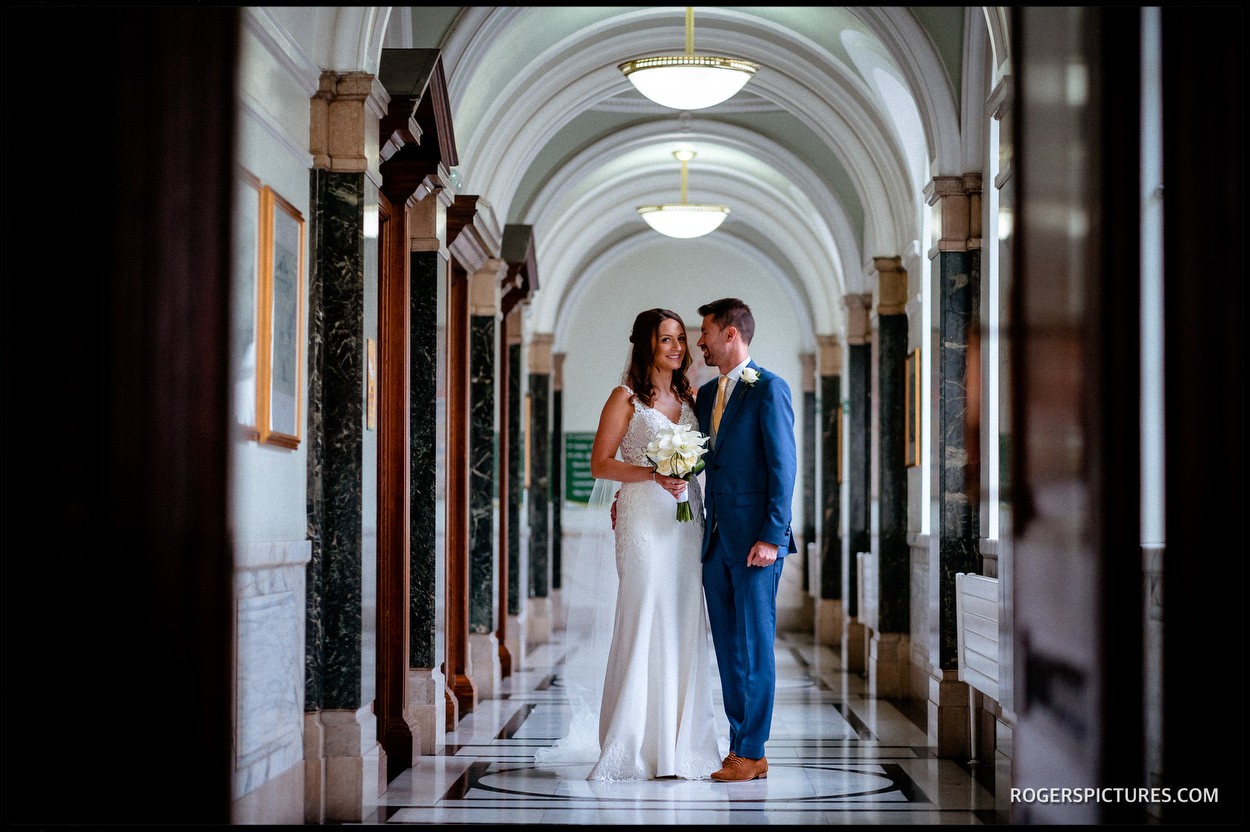 Wedding portraits at Islington Town Hall