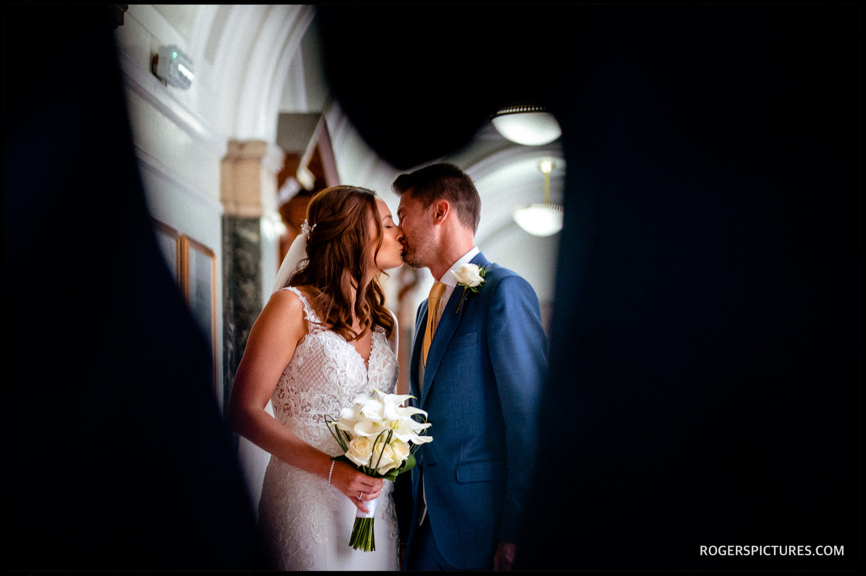 Intimate wedding at Islington Town Hall