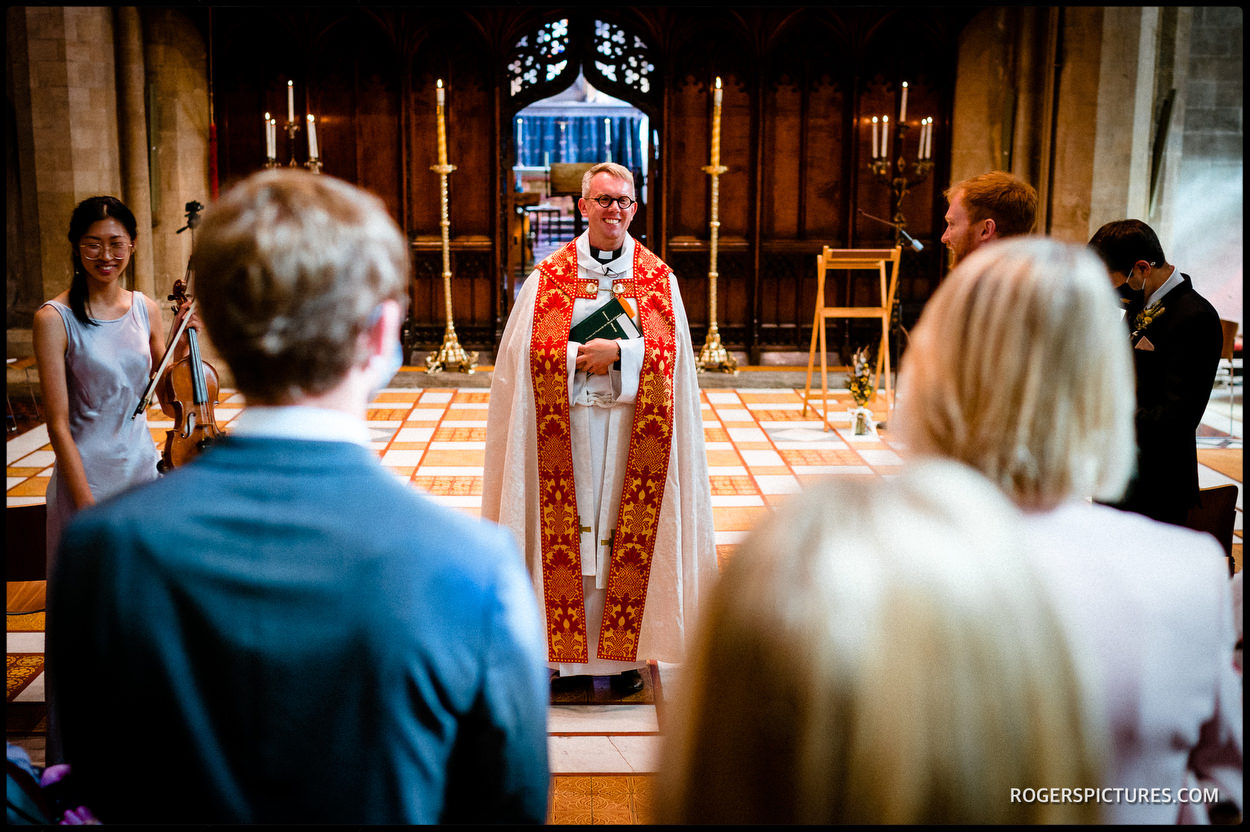 Jesus College Cambridge chapel for a wedding