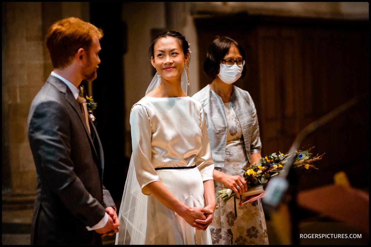 Wedding ceremony at Jesus College in Cambridge
