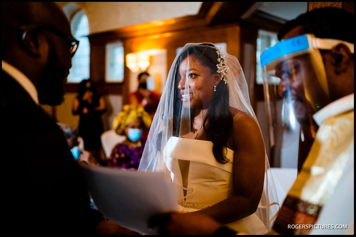 Wedding ceremony at Richmond Hill Hotel
