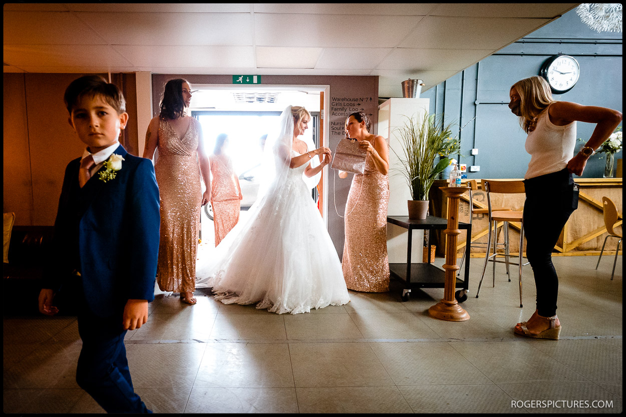Bride at Hertfordshire Soul Survivor Watford wedding