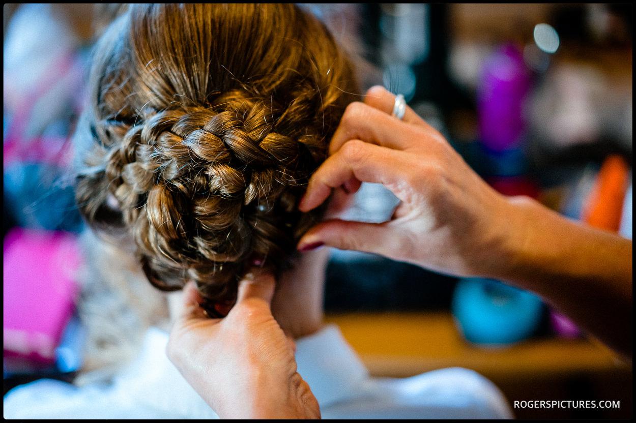 Brides hair and make up