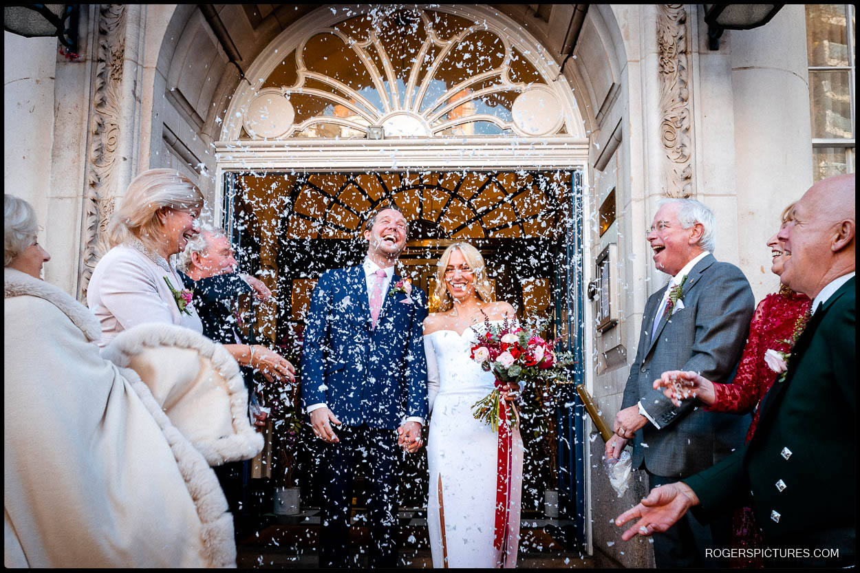 confetti at chelsea old town hall