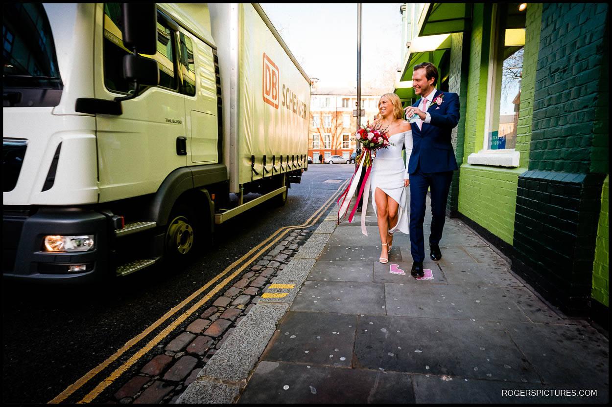 winter documentary wedding photography in london