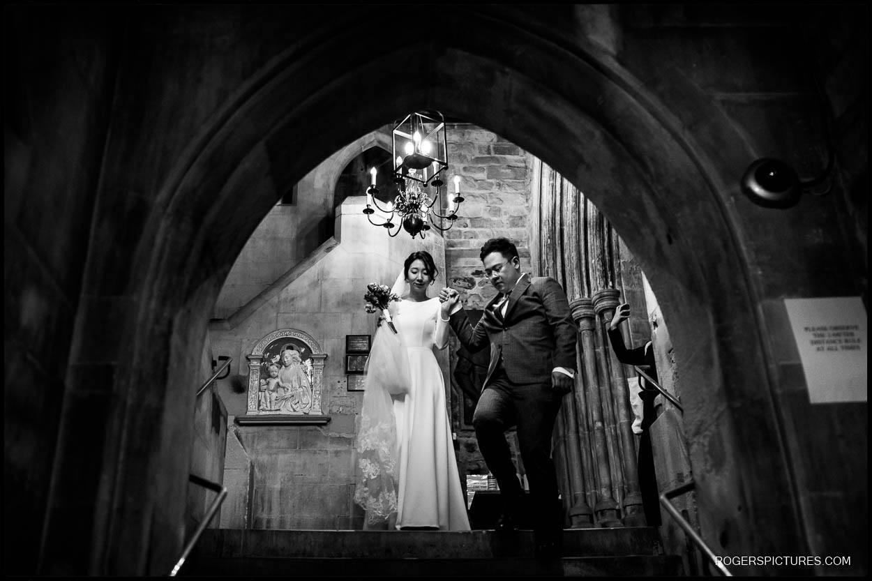 Intimate Wedding at St Etheldreda's Church London