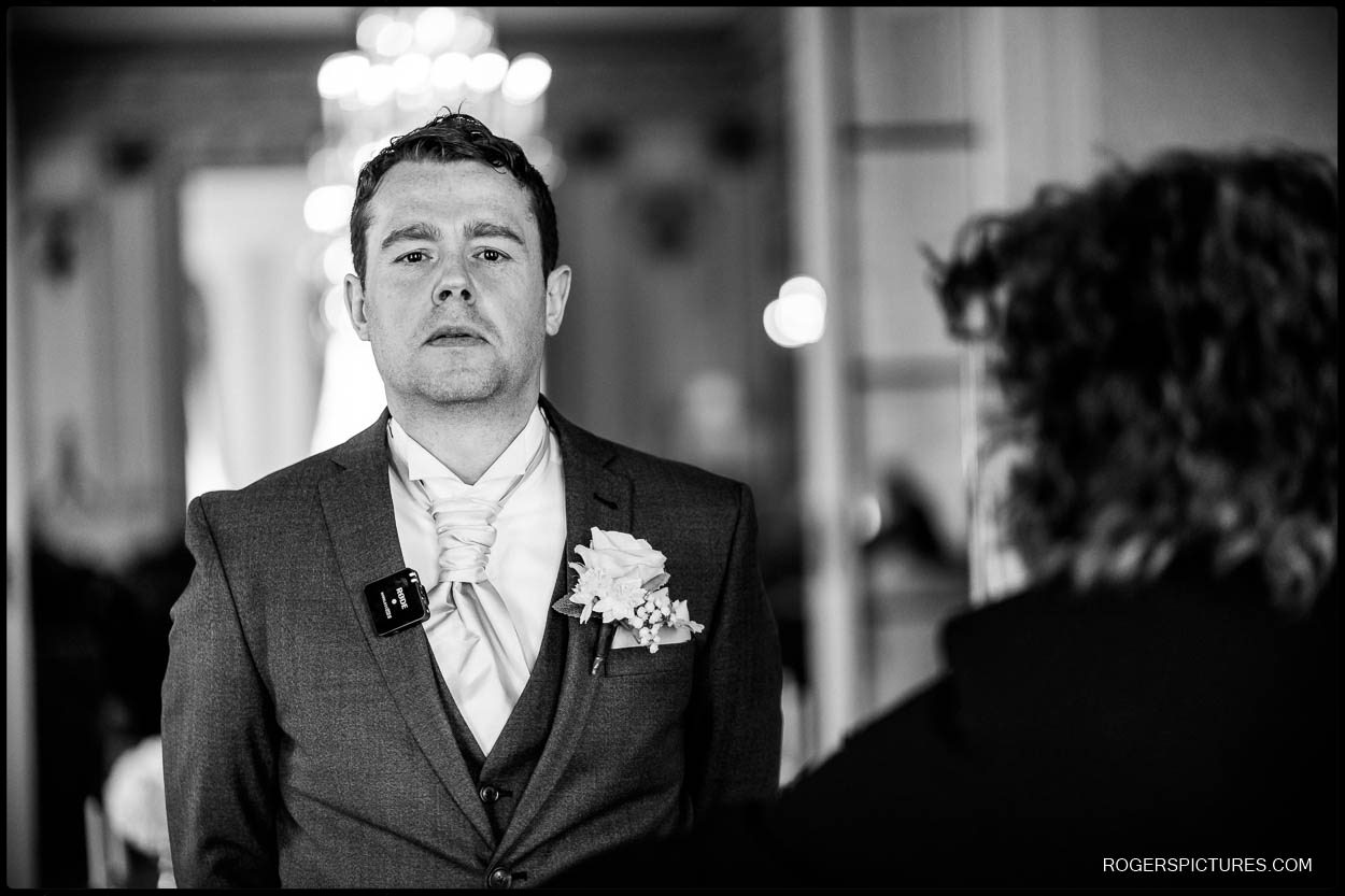 Nervous groom a at Luton Hoo