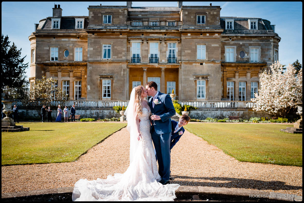 Bride and Groom portrait  at Luton Hoo