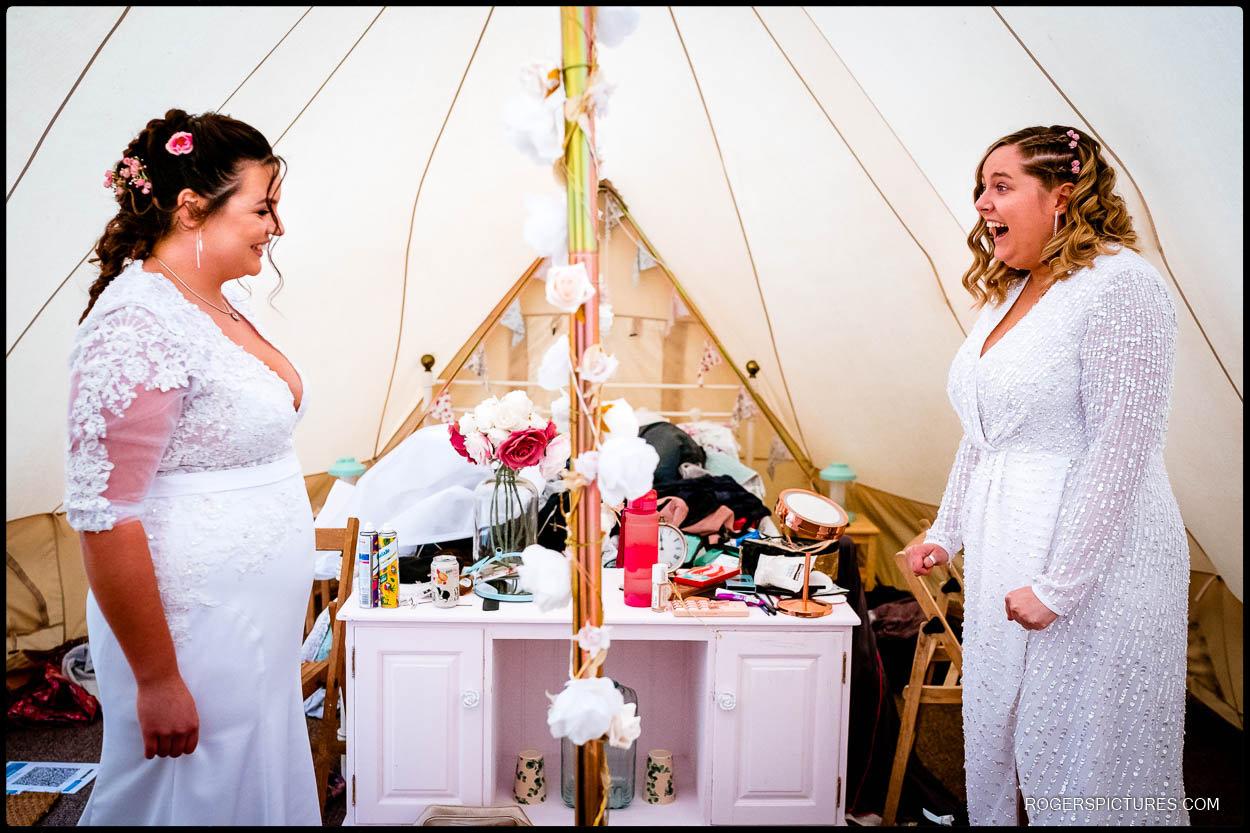 Same Sex Glamping Wedding