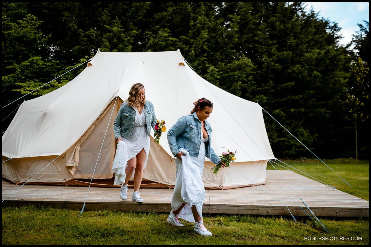 Glamping wedding venue in kent
