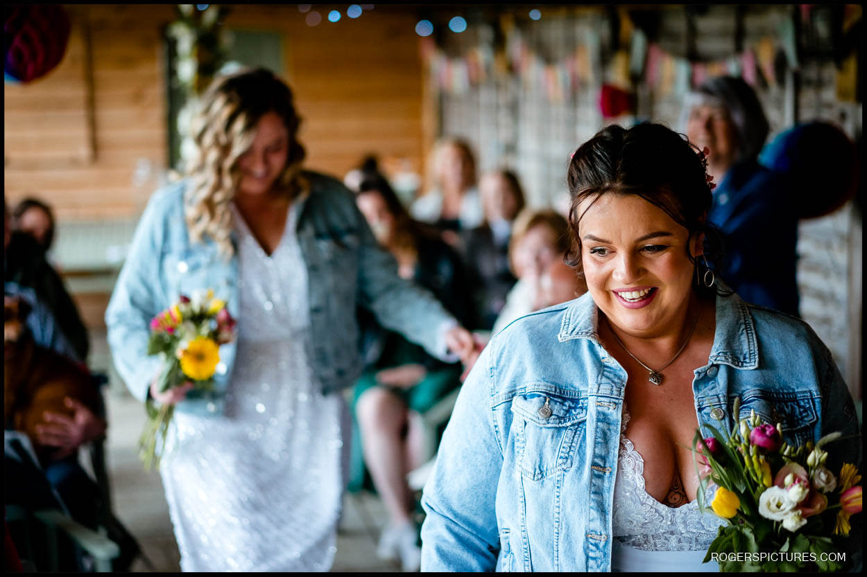 Same sex wedding ceremony in Kent
