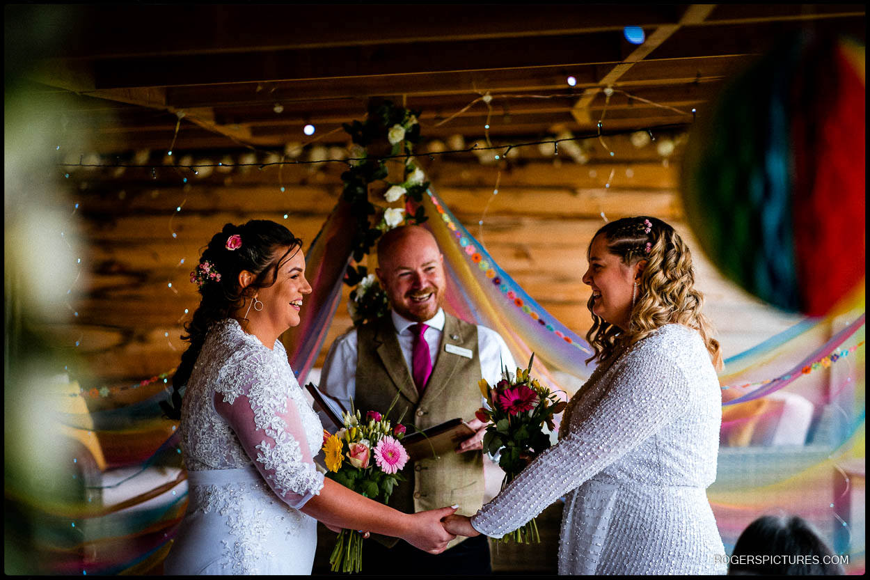 Two brides getting married in Kent