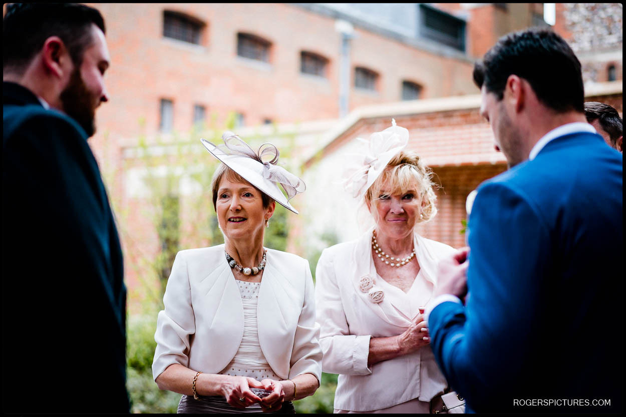 Mothers at at St Albans Cathedral wedding