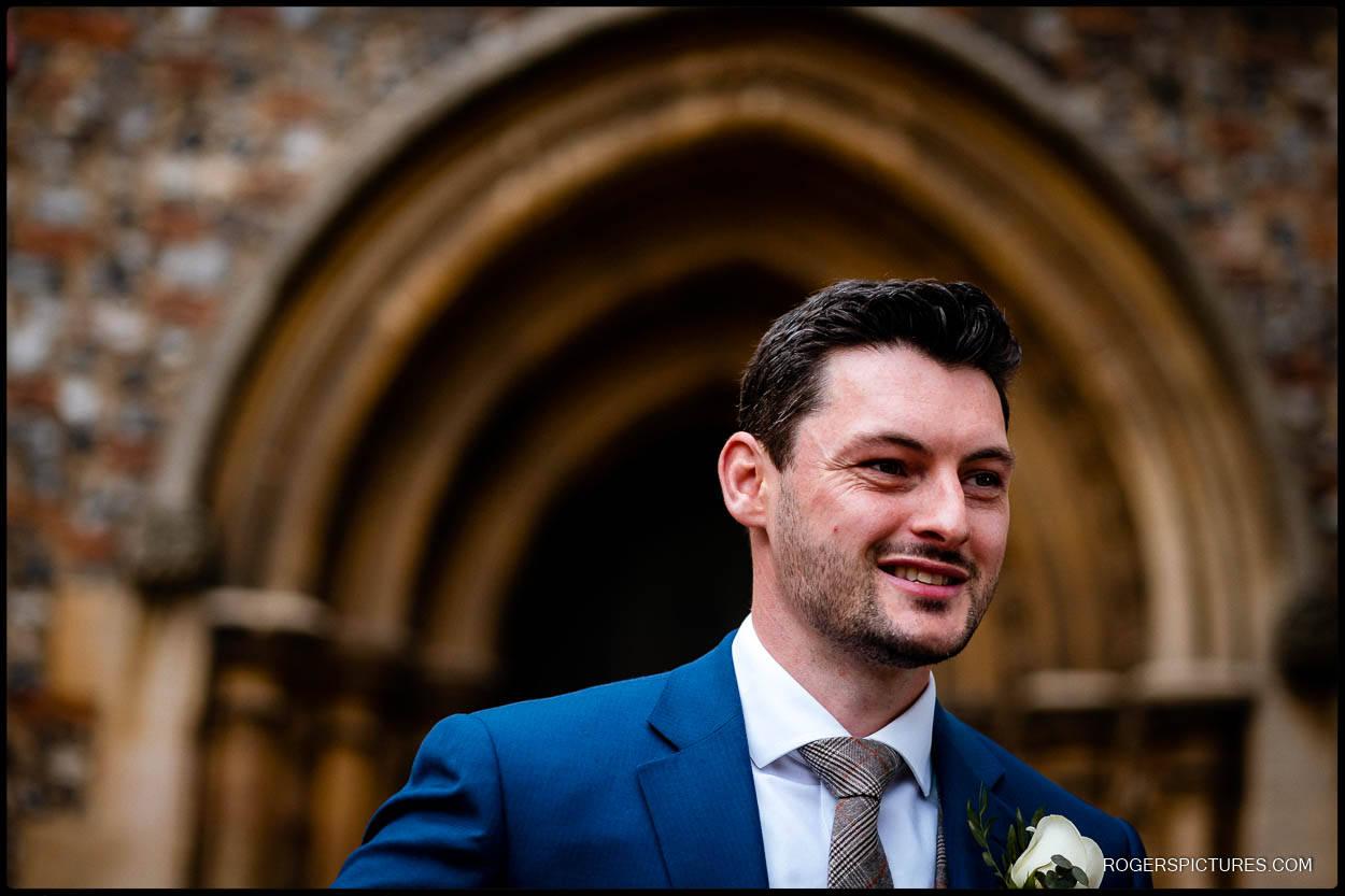 Groom portrait before a wedding
