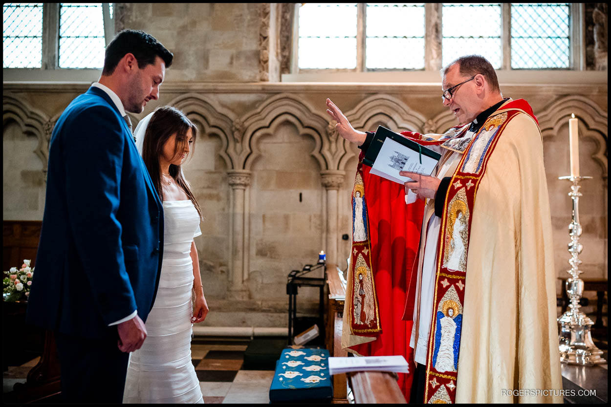 Blessing at St Albans Cathedral wedding