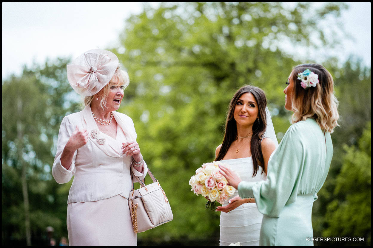 Bride and guests
