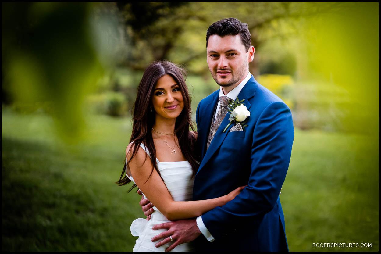 St Michael's Manor wedding couple portrait