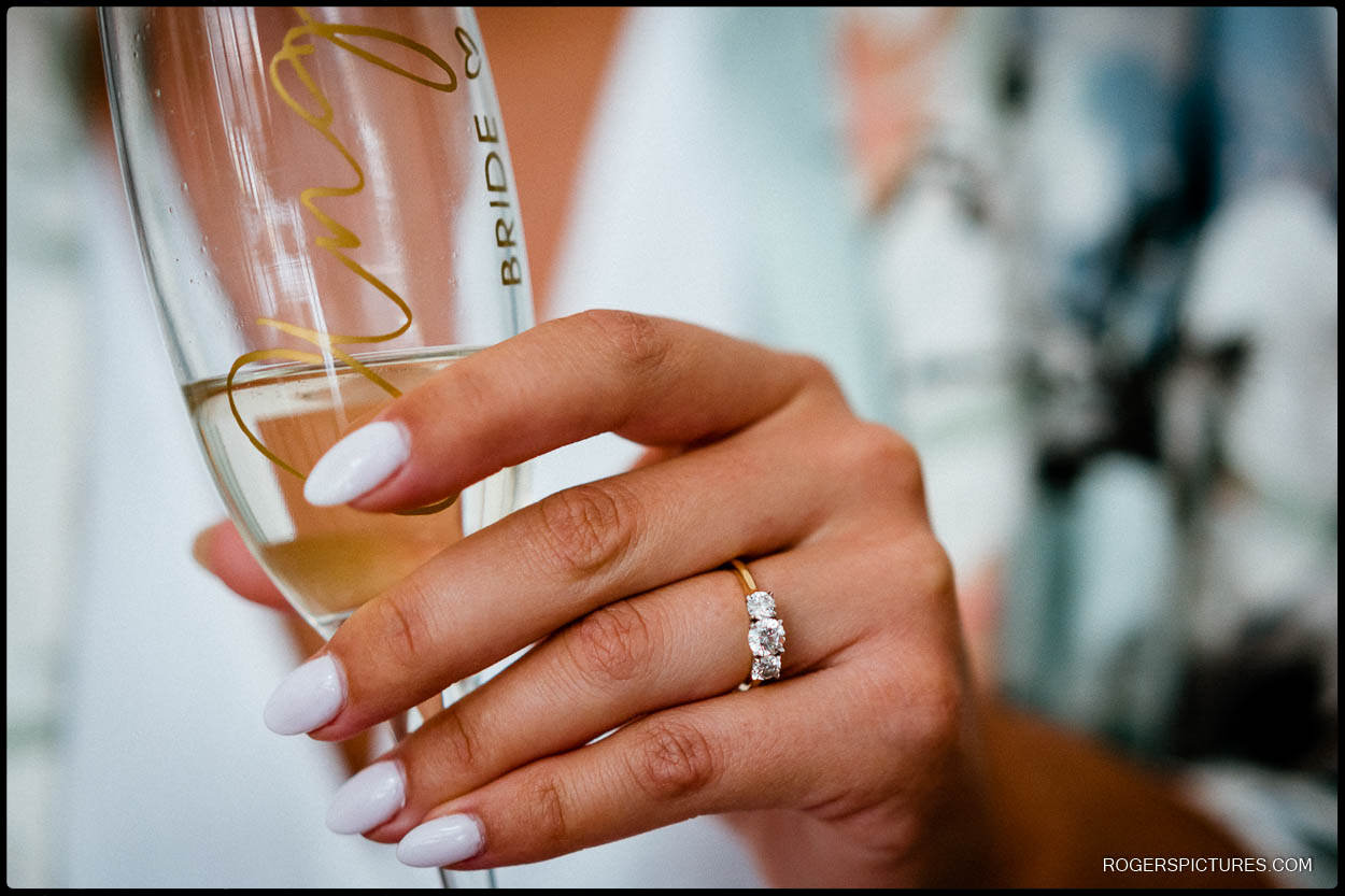 Bride getting ready in Herts