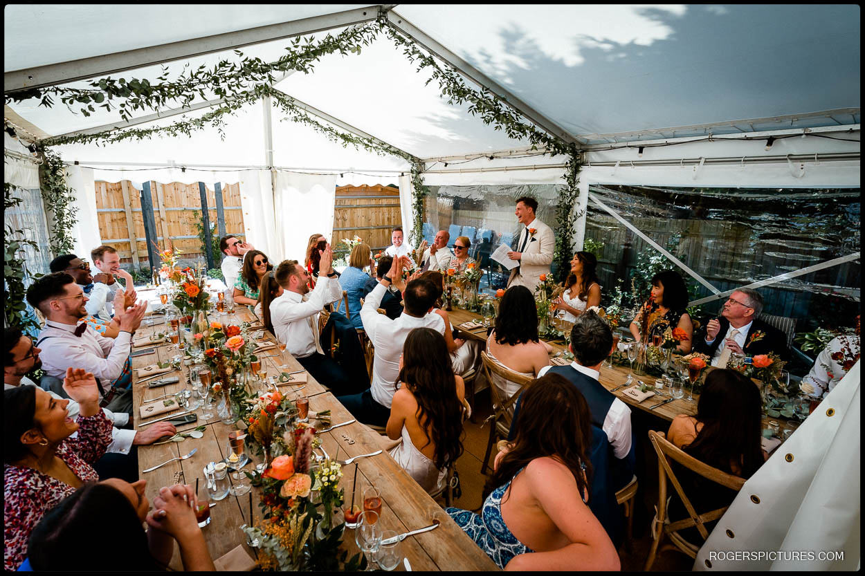 Marquee wedding reception in Hemel Hempstead
