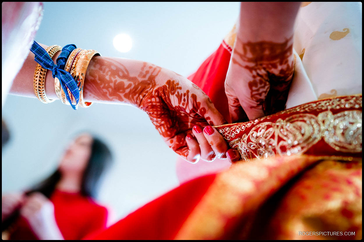 Asian wedding preparations at Froyle Park