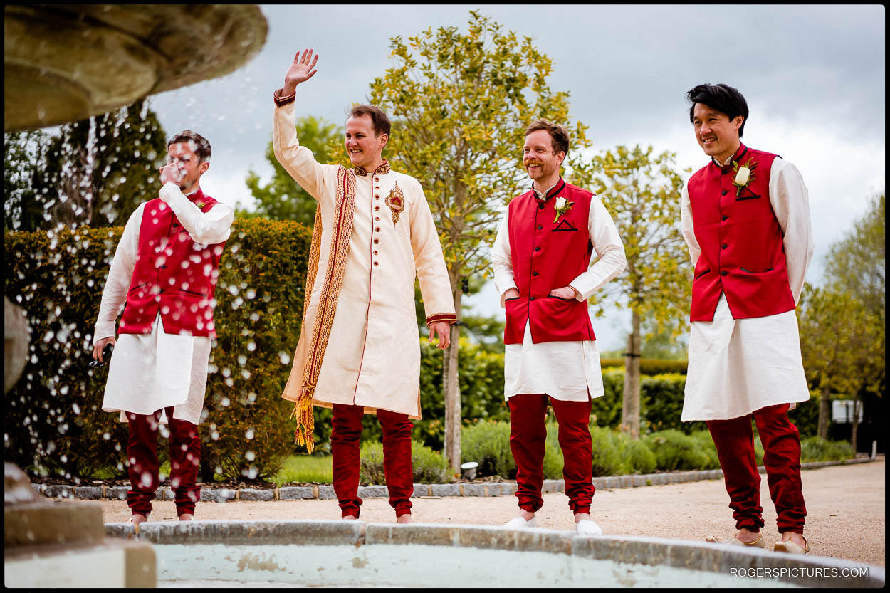 Groom for Indian wedding at Froyle Park