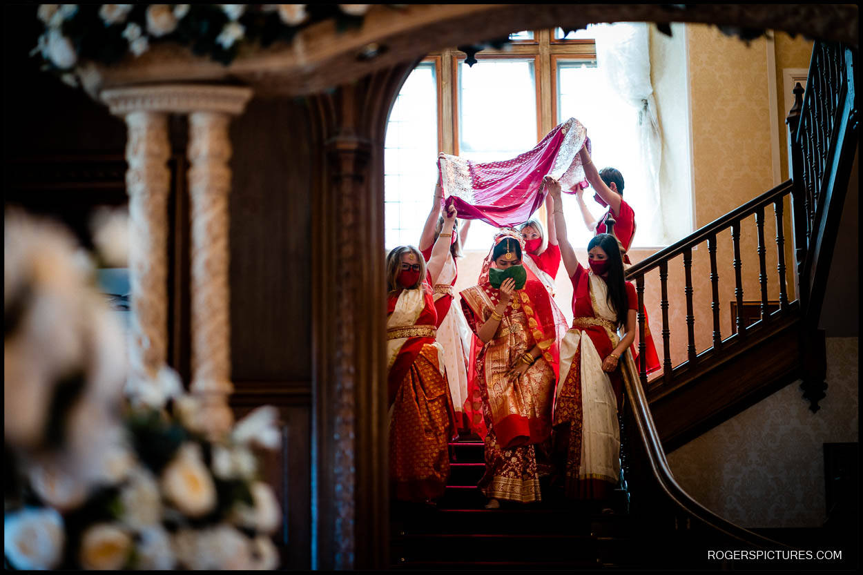 Indian wedding ceremony at Froyle Park