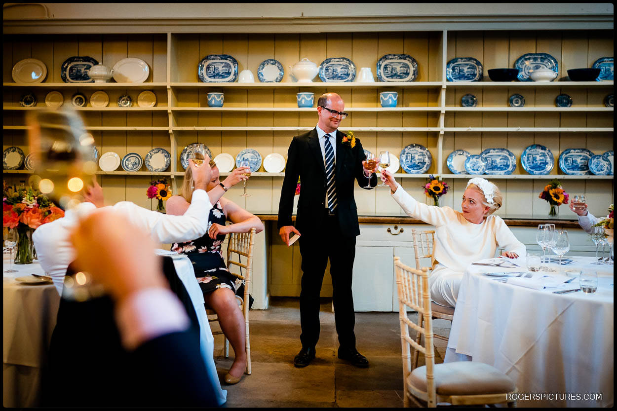 Grooms speech in the Old Kitchen