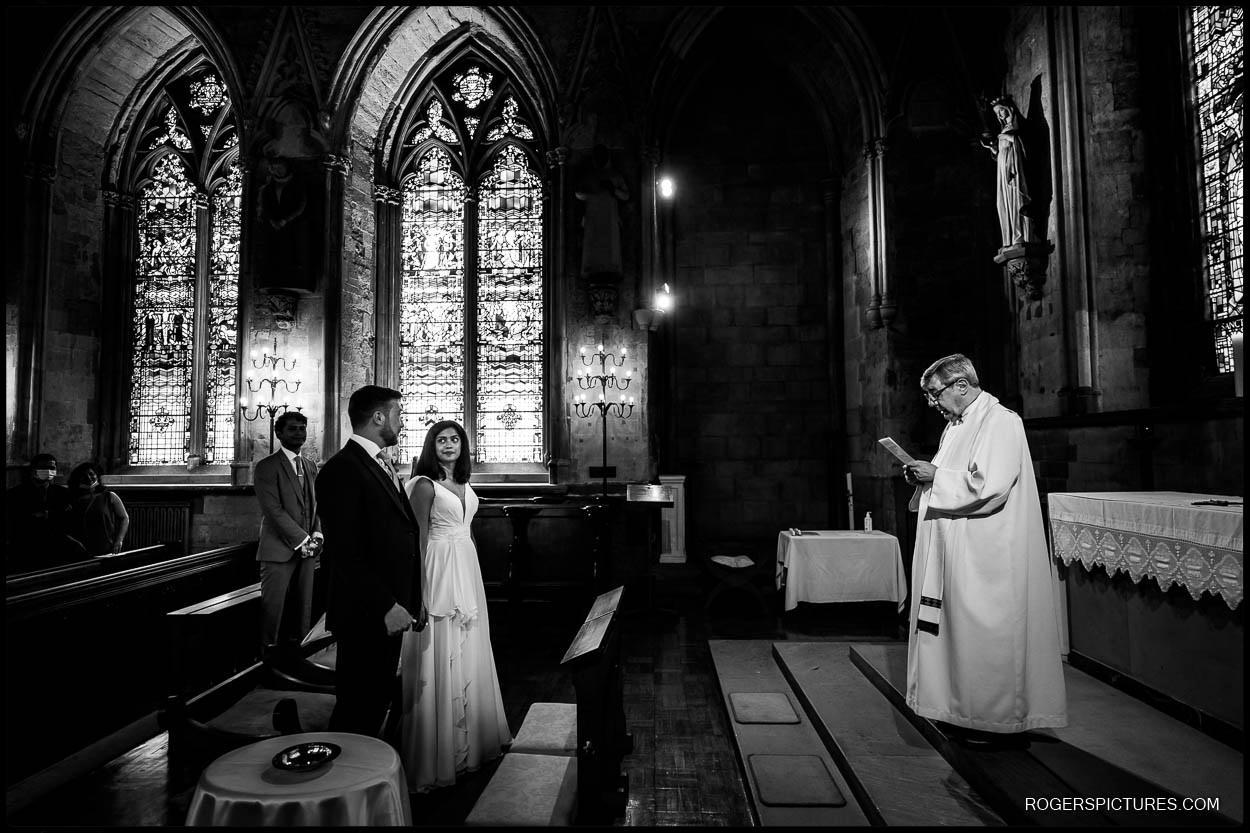 Documentary wedding photo in London